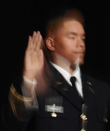 My photo of nephew Jake at his commissioning ceremony.