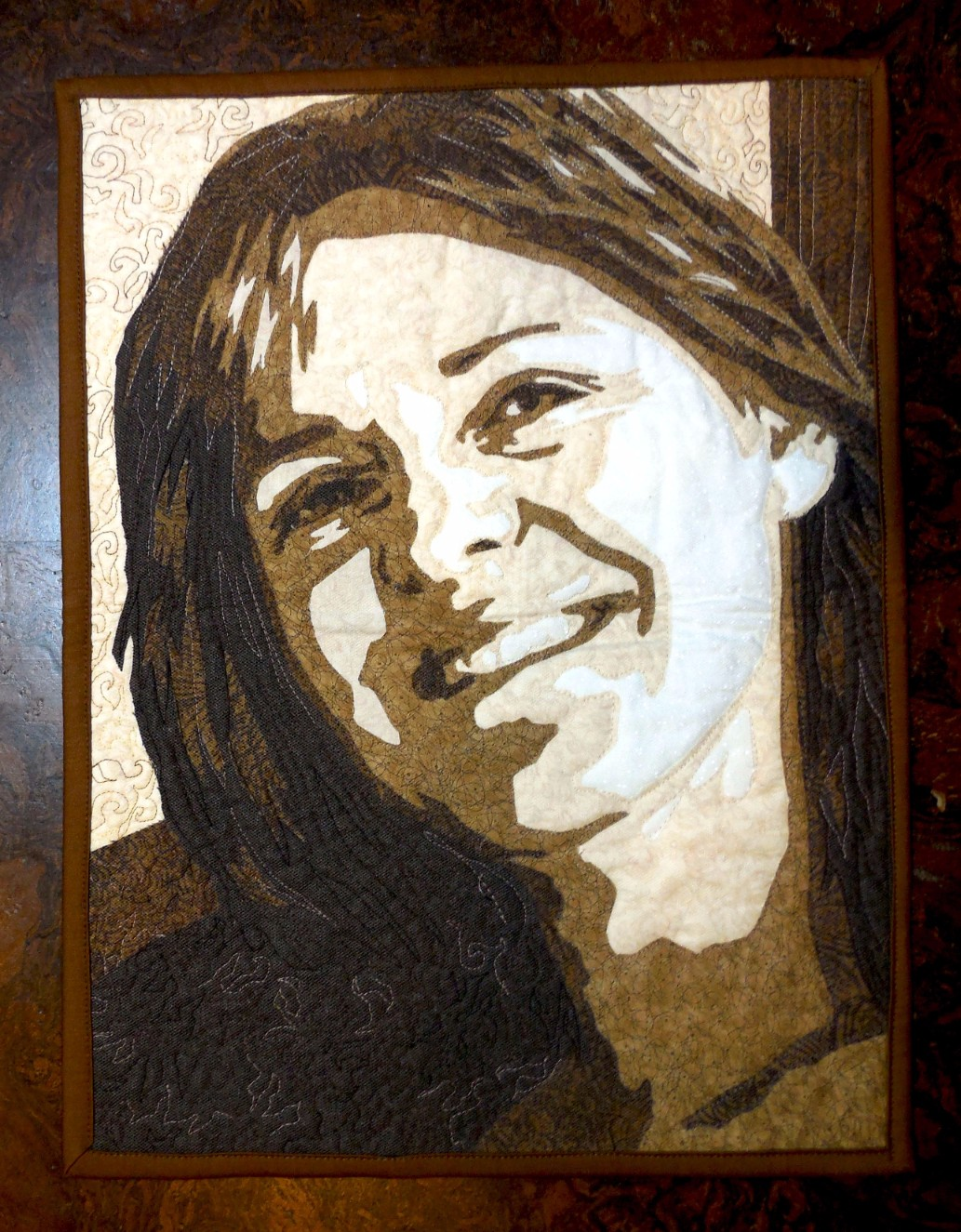 fused applique portrait class