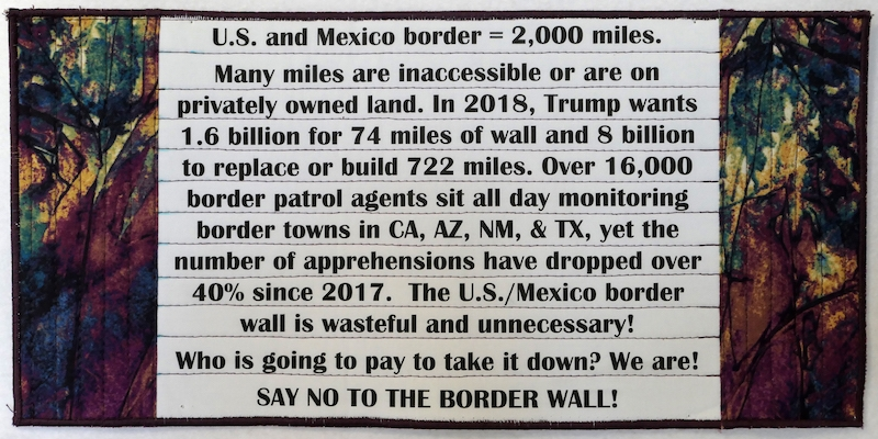 This piece describes how wasteful it is to watch 16,000 border patrol agents monitor the current border wall, when apprehensions have decreased by over 40%. Current policy is to make outrageous budget demands to build a wall when measures to apprehend, detain, & kill migrants are already excessive. Many are unaware of the truly horrific nature of Border wall issues, so this speaks to the issues to enlighten the public on both sides.