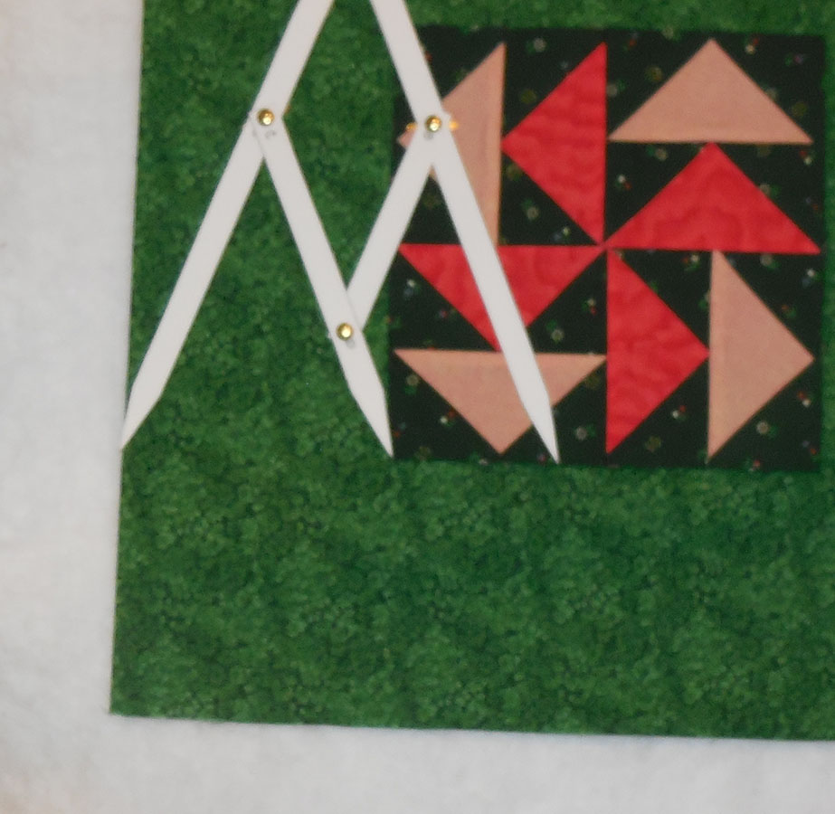 Use the larger of the 2 inner golden mean measurements for the finished width of the full border.