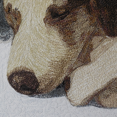 Lea McComas Fiber Art - Vigil detail