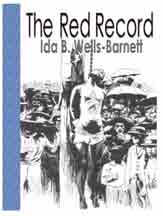 Cover of book The Red Record by Ida B Wells, showing image of a lynching party.